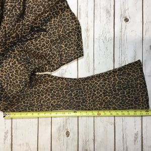 Clockhouse Tops - Sheer Leopard Animal Print Lace-up Blouse On Trend